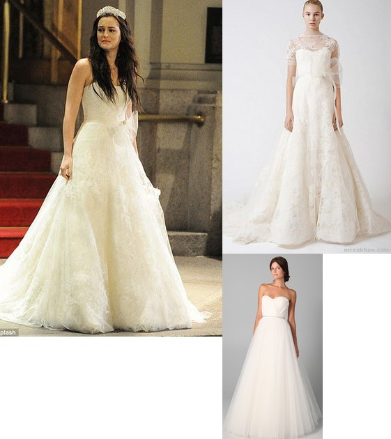 Gossip girl blair waldorf s wedding dress funny little for Wedding dress blair waldorf